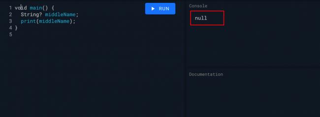 Dart 空字符串输出