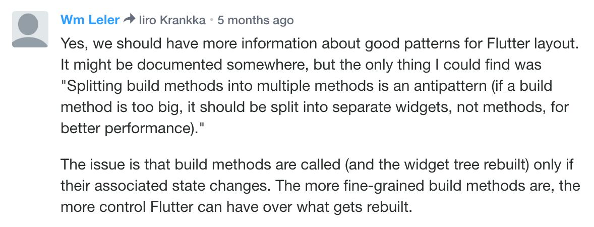 Wm Leler 的评论解释了如何将小部件拆分为函数是一种性能反模式。