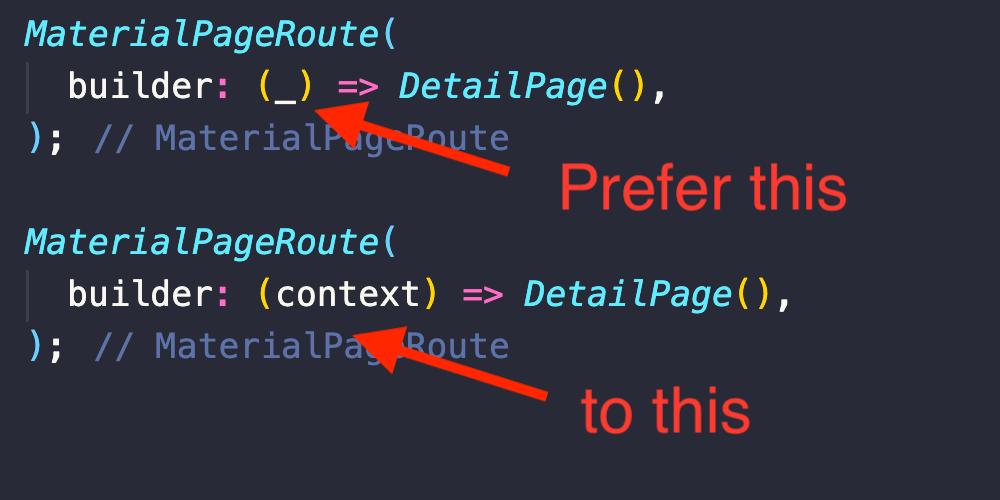 对未使用的函数参数使用下划线