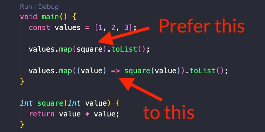 函数是 Dart 中的一等公民,它们可以直接作为参数传递。