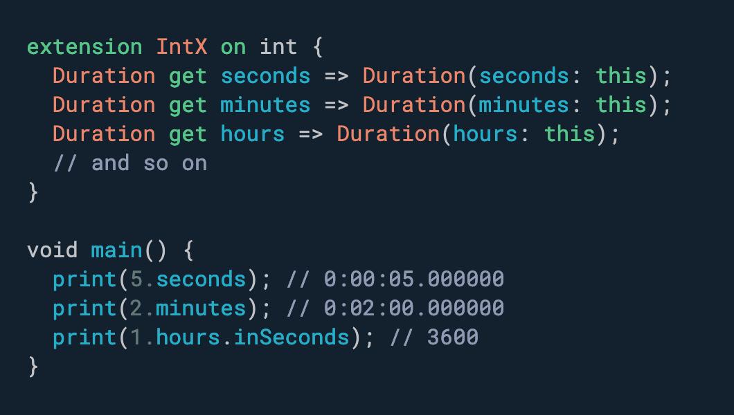 想要一个更符合人体工程学的 API 来处理日期和时间? 使用扩展。