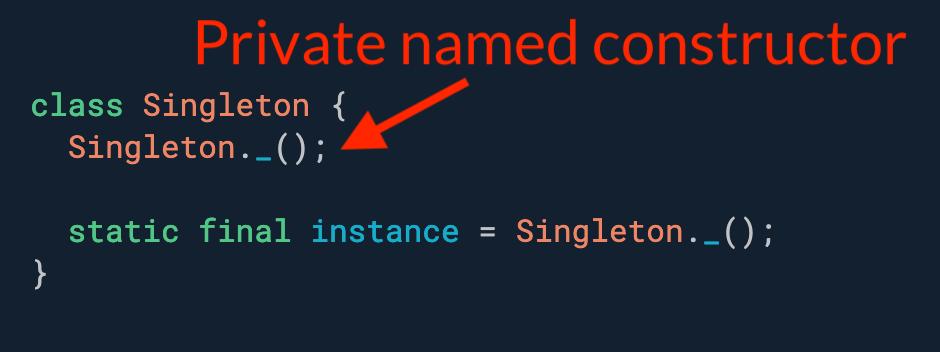 需要一个只能实例化一次的类(又名单例)? 使用带有私有构造函数的静态实例变量。