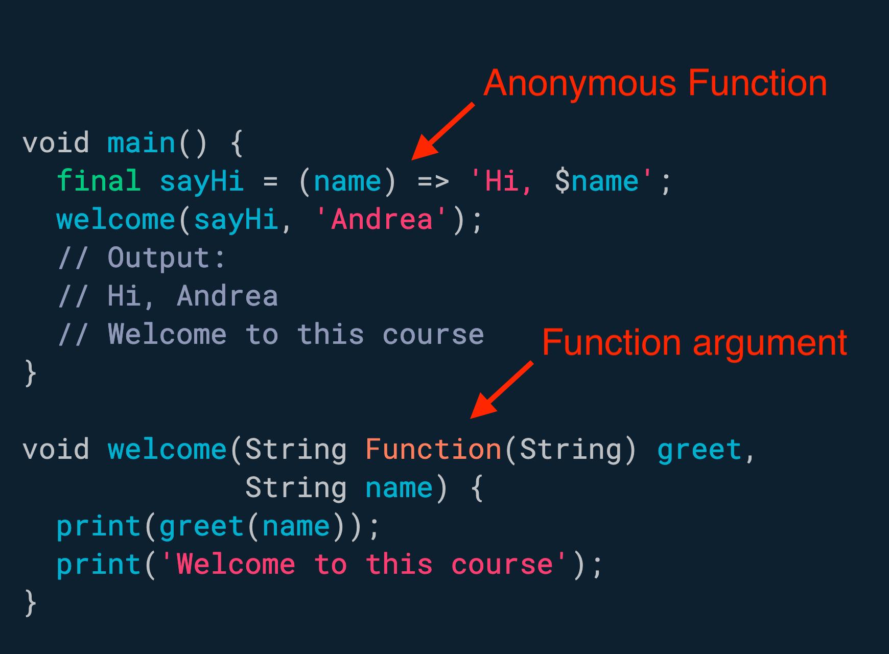 匿名函数可以分配给变量,或作为参数传递给其他函数